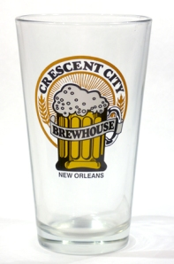 Crescent City Brewhouse Pint Glass, New Orleans