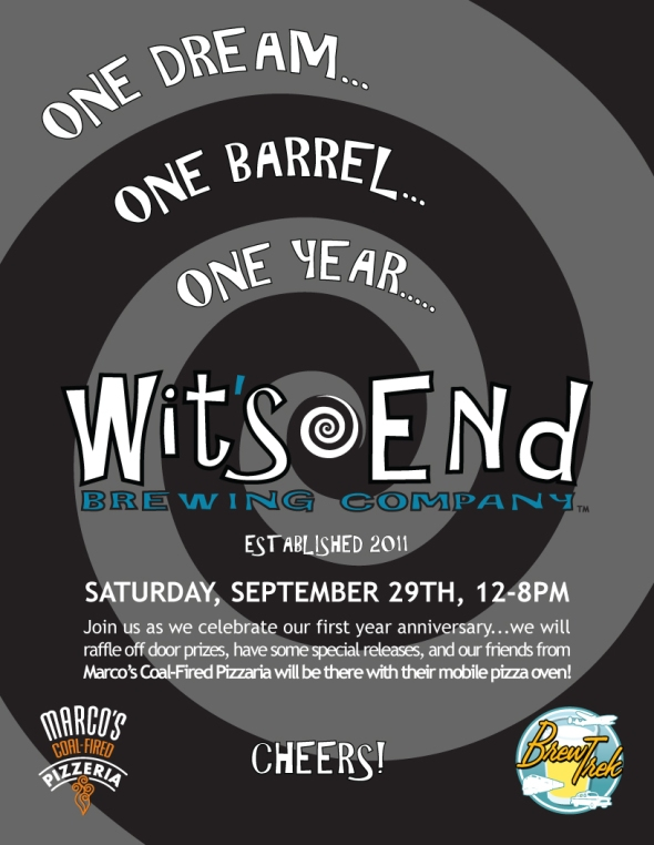 Wit's End 1st Anniversary