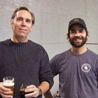 William Carlson with Christian of Elevation Beer Co